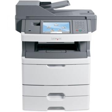 Imprimanta Multifunctionala laser monocrom Lexmark x466de 34S7904, cartus NOU 9000 pagini, drum unit NOU, role preluare hartie NOI, complet reconditionata