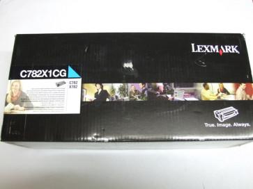 Cartus toner original Lexmark C782X1CG Cyan de capacitate extra mare pentru C782/X782
