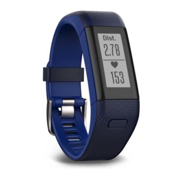 Bratara fitness Garmin Vivosmart HR+ GPS Activity Tracker, Albastru(sau Mov)