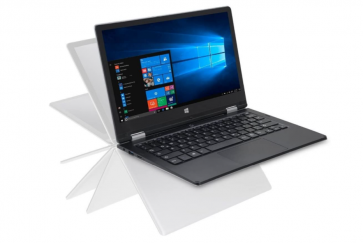Laptop iOTA 360 de 11,6 inci, convertibil Touch HD (argintiu) - Procesor Intel Quad Core Atom Z8350 (Burst 1.92GHz), 2 GB RAM, 32 GB eMMC Storage + mSD 128 GB, Windows 10