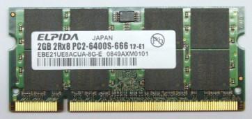 Memorie Laptop Elpida SODIMM DDR2 2GB PC2-6400S 800MHz