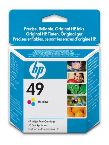 Cartus cu cerneala original HP 49 Tri-colour nou, cutie desfacuta, expirat 51649AE