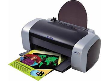 Imprimanta cu jet Epson Stylus C84 cu printheaduri infundate, cartuse goale, fara cabluri